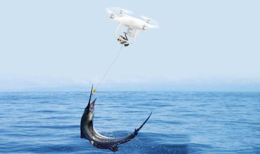 how to use drone fishing