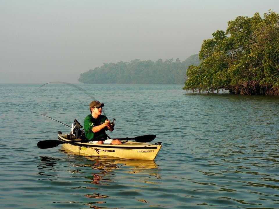 sit in kayak fishing